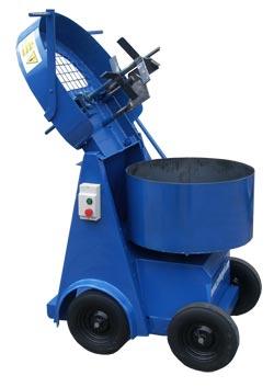 image shows pan mixer with the door open